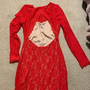 Express Dresses - Express Red Small Lace Dress